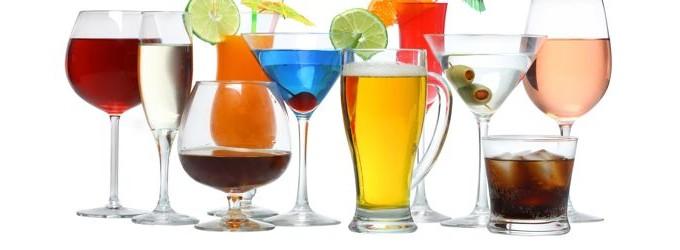 Разнообразни алкохолни натипки