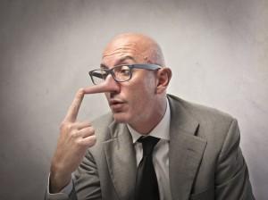 Лъжлив бизнесмен с голям нос